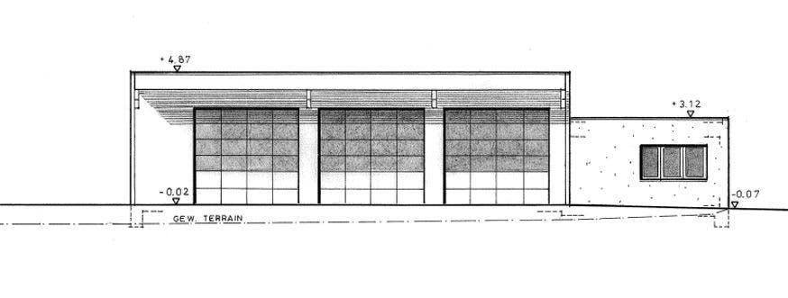 Neuer Werkhof, Planansicht Nord-Ost