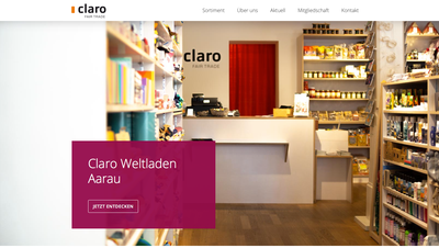 5 Jahre claro Weltladen an der Metzgergasse 20 in Aarau & neue Website (www.claro-aarau.ch)