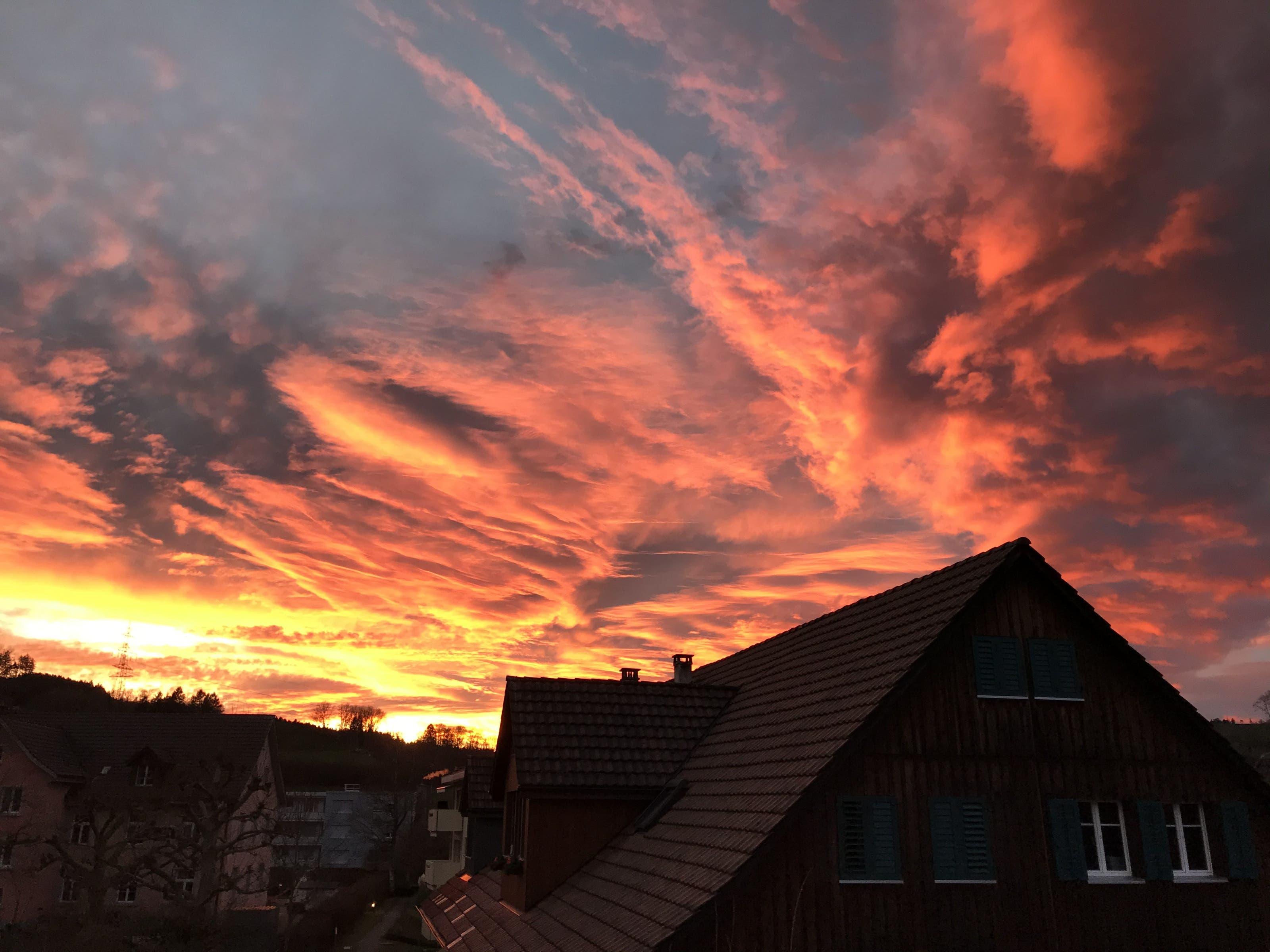 undefined 3. Advent Sonnenuntergang in Birmensdorf