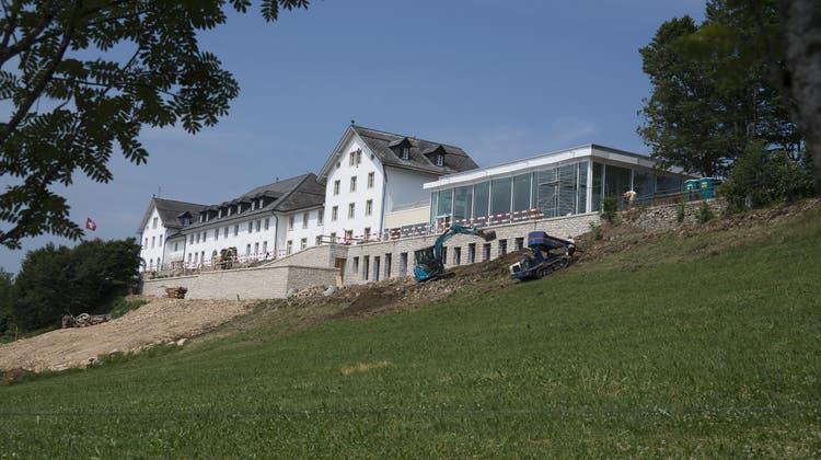 Auf den letzten Metern der Bergetappe: Das 24-Millionen-Projekt Kurhaus ist fast fertig