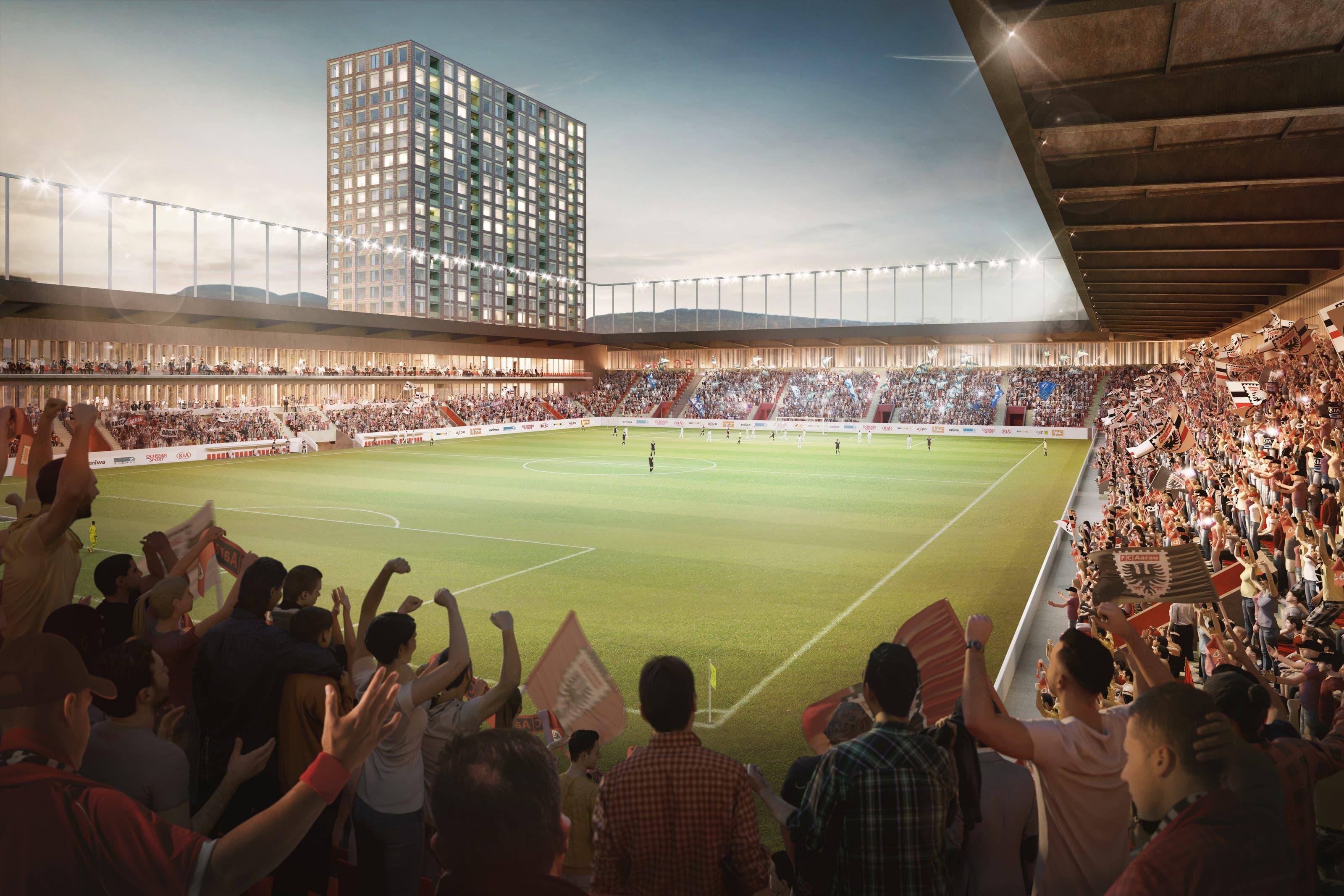 Nach dem Ja zu den beiden Stadion-Vorlagen sind die HRS und der FC Aarau gefordert.