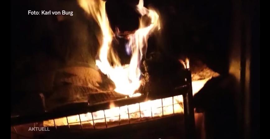 6. April 2019: Mit Moos als Anzünder brachten Unbekannte die Holzbeige an der Hausfassade zum Brennen.