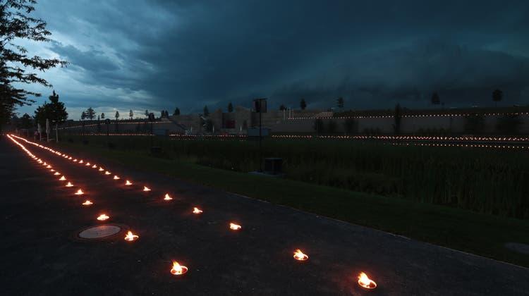 6500 Kerzen in Erinnerung ans Heilbronner Leid
