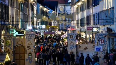 Der Frauenfelder Weihnachtsmarkt im Jahr 2019 ((Bild: Donato Caspari))