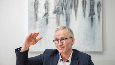 Der Wittenbacher Gemeindepräsident Oliver Gröble. (Urs Bucher (13. Februar 2020))