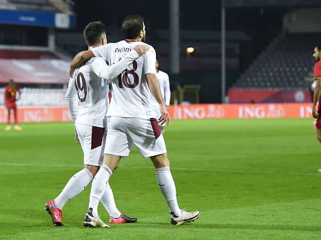 Zur Pause konnten die Schweizer noch zufrieden sein: Admir Mehmedi hatte sie in der 12. Minute in Führung gebracht