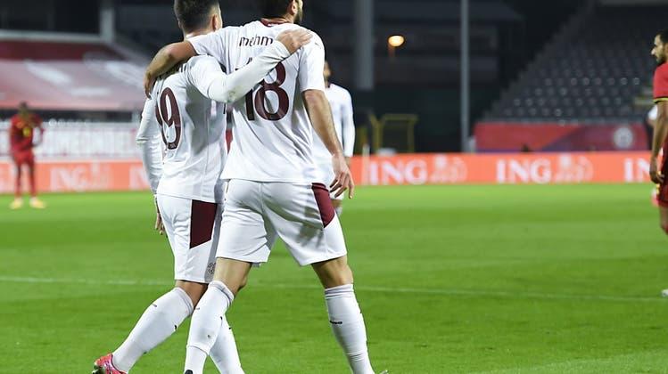 Die Schweiz baut nach der Pause ab und verliert in Belgien 1:2