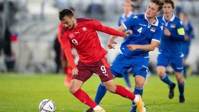 U21-Nati- und FCSG-SpielerJeremy Guillemenotwurde positiv getestet: Hier in einem EM-Qualifikationsspiel gegen Liechtenstein. (Bild: Claudio De Capitani, Freshfocus)