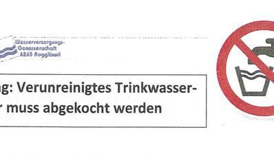 Wegen Verschmutzung: Trinkwasser in Roggliswil muss vor Konsum abgekocht werden