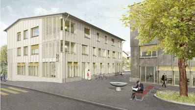 So soll die Zentrumsüberbauung aussehen: Ins Erdgeschoss wird die Gemeindeverwaltung einziehen. ((Bild: PD))
