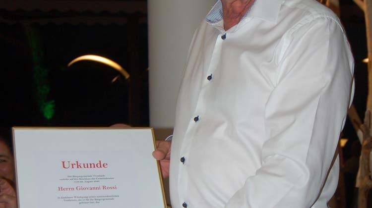 Giovanni Rossi, neuer Trimbacher Ehrenbürger