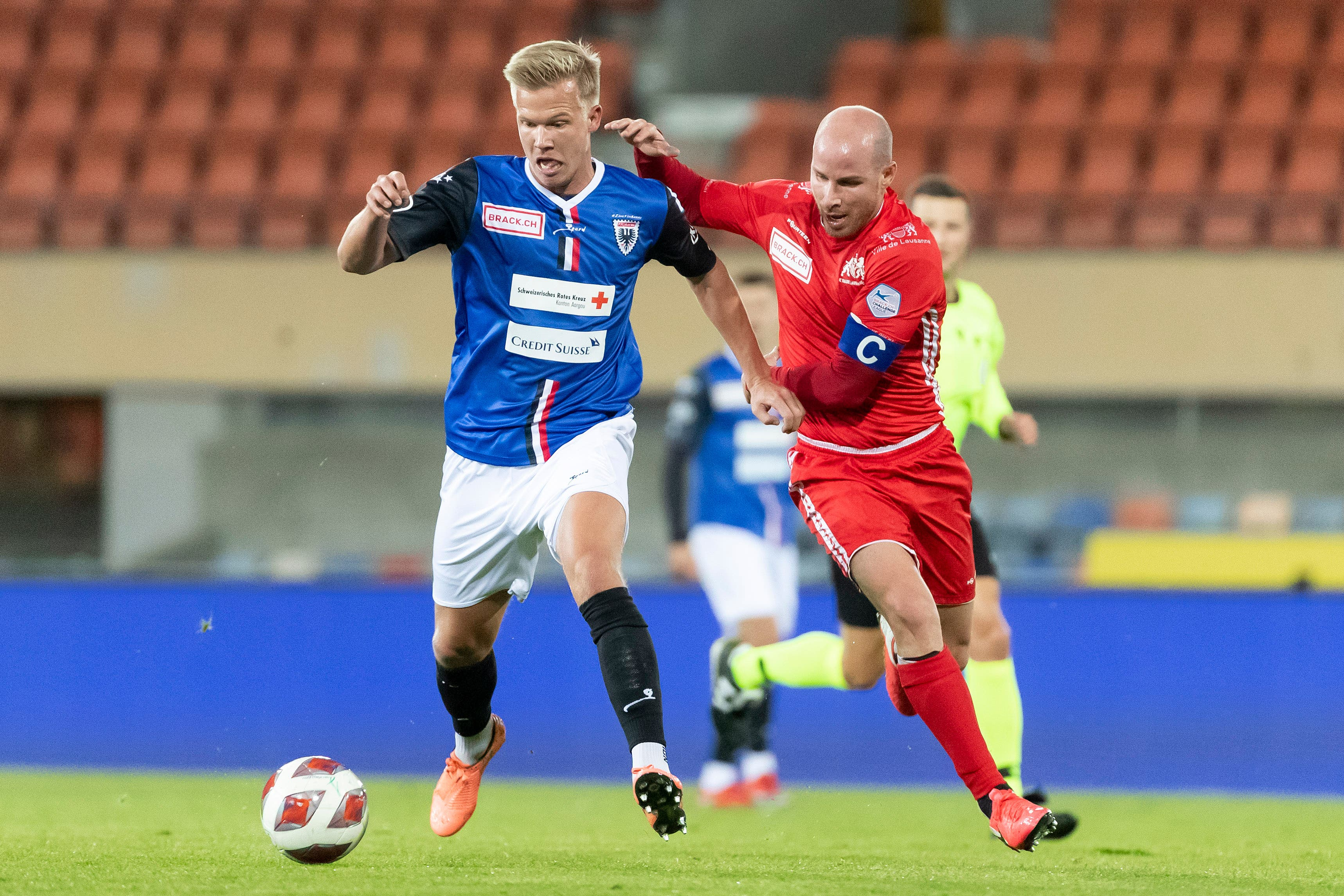 Fussball, Challenge League: FC Stade Lausanne-Ouchy - FC Aarau (16.10.20)
