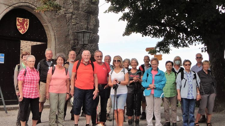August Wanderung der Wandergruppe Villigen von Brugg auf die Habsburg