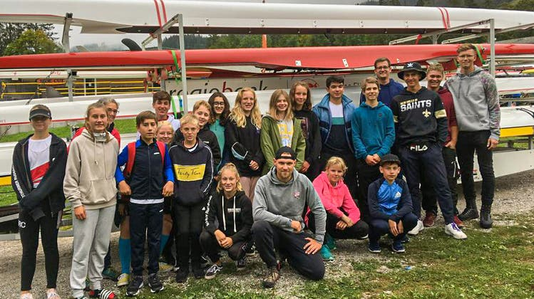 Das Jugendteam des Solothurner Ruderclubs an der Schwarzsee-Regatta