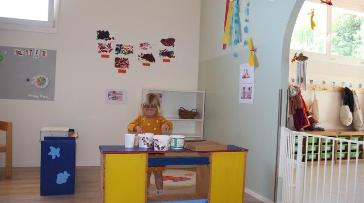 Spielzeugfreie Zeit in der Kinderkrippe Wallbach