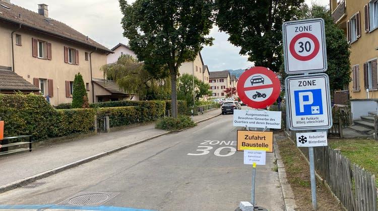Neues aus dem Schilderwald: Provisorisches Fahrverbot im Altberg-Quartier sorgt für Fragen
