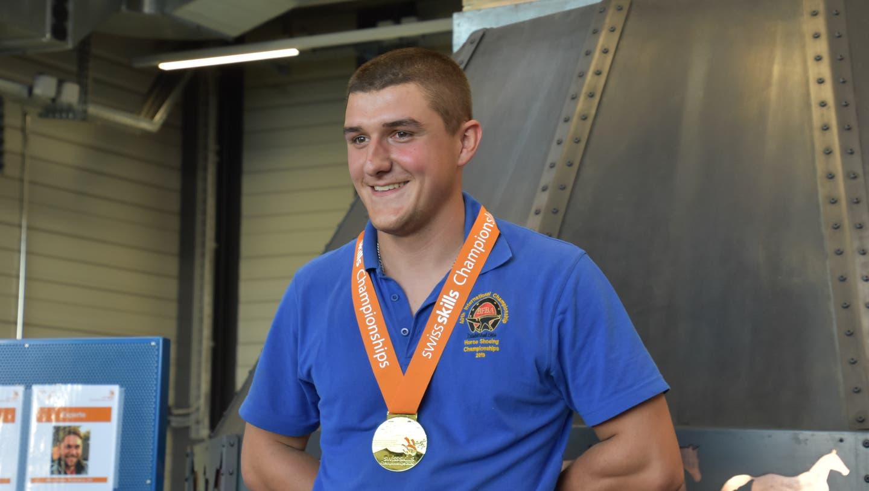 Dieser Aargauer Hufschmied ist neu Schweizer Meister – auch zwei Silbermedaillen gehen in den Aargau