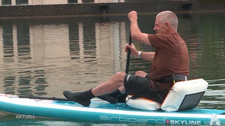 Um Verbot zu umgehen: Bellacher Tüftler hat Sitz für das Stand Up Paddle entwickelt