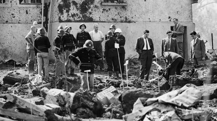 Am 4. September 1963: Als in Dürrenäsch eine brennende Swissair vom Himmel stürzte