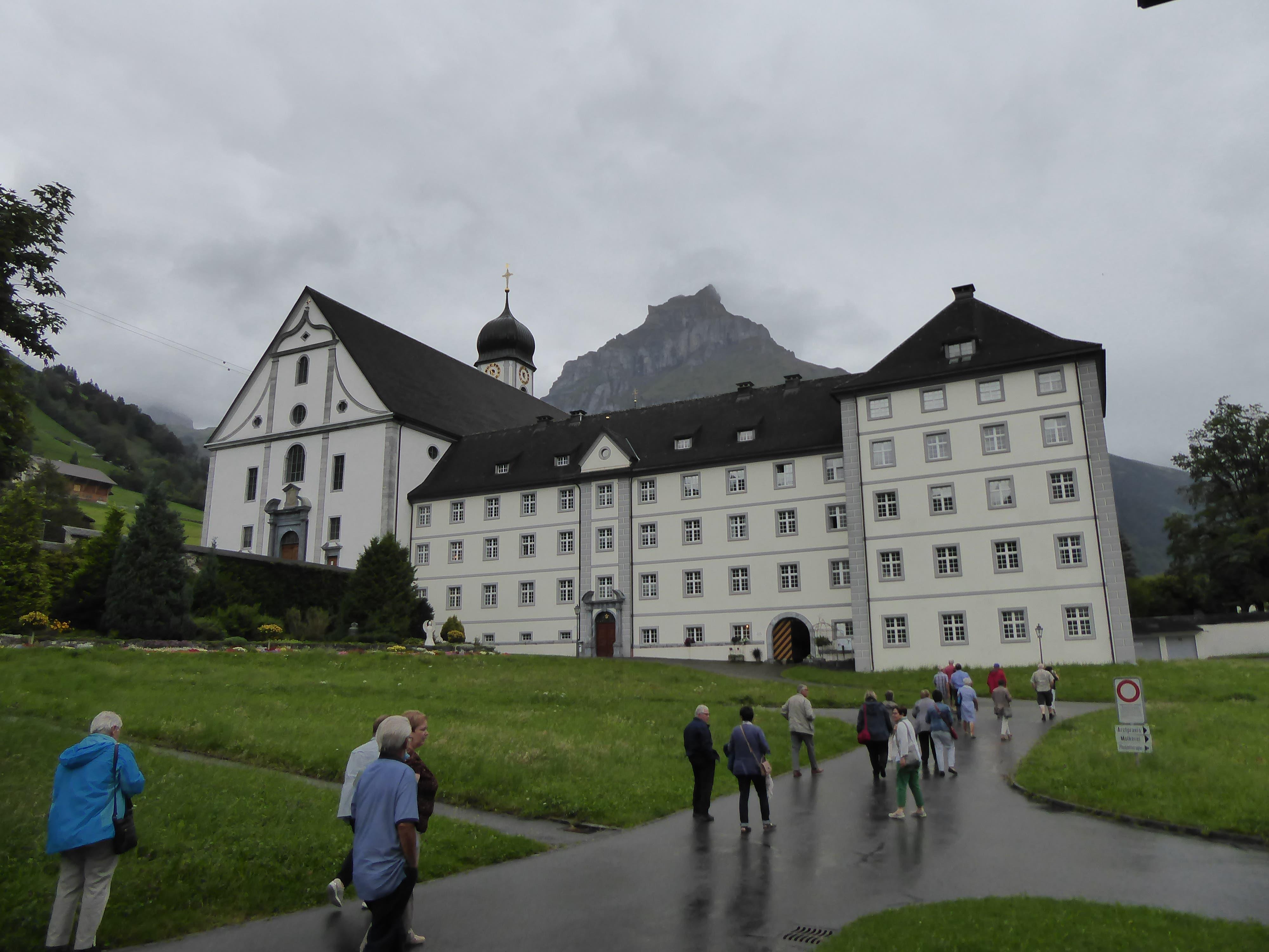 Blick auf das Kloster Engelberg