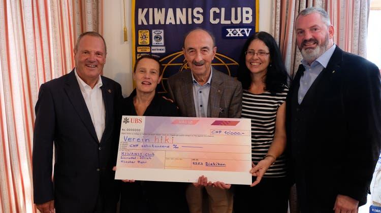 10'000 Franken für hirnverletzte Kinder - Kiwanis feiert 40. Geburtstag mit Spende