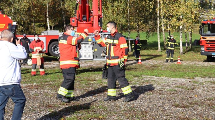 Er rettete 2017 die Feuerwehr: Kommandant Thomas Huber wurde schon zum zweiten Mal verabschiedet