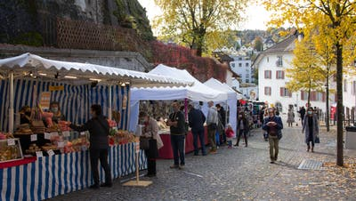 Beim alternativen Herbstmarkt sorgte der Einbahnverkehr für Schutz