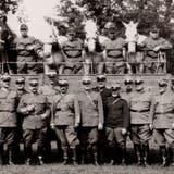 Im Bild Trainsoldaten mit Fuhrwerk im Jahr 1923 an der Schönfeldstrasse in Buchs. (Bilder: Archiv Hansruedi Rohrer)