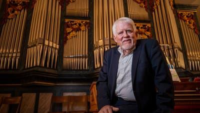 Am Schlusskonzert der 38. Internationalen Zuger Orgeltage in Menzingen sass Olivier Eisenmann selbst an den Manualen. (Bild: Stefan Kaiser (5. November 2020))