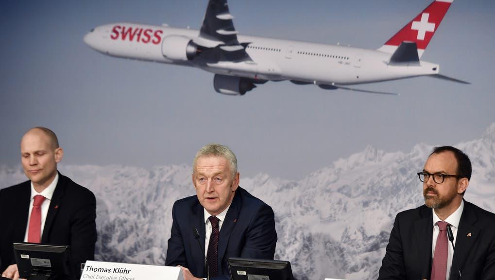 Folgt Markus Binkert (rechts) auf Thomas Klühr? Morgen wird entschieden, wer der neue Swiss-Chef wird. (Walter Bieri / Keystone)