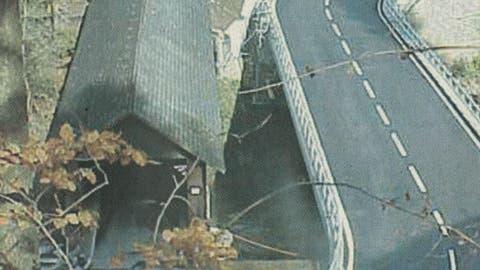 Damals: Anzenwiler Brücke neu eröffnet