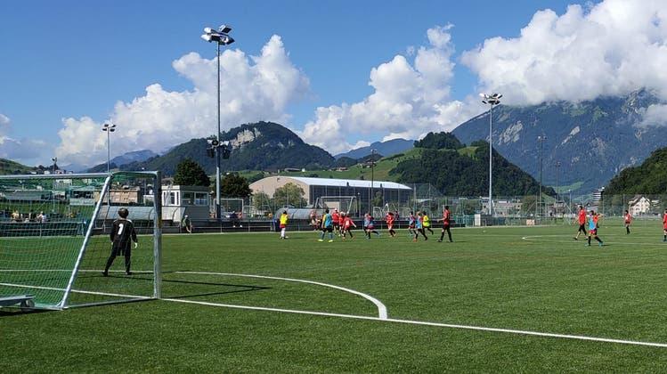 Junioren des FC Stans trainieren auf der Sportanlage Eichli. (Bild: PD (Stans, 15. August 2020))