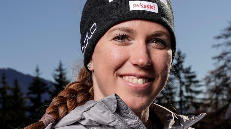 Lena Häcki, hier am Dienstag auf der Lenzerheide. (Claudio Thoma / freshfocus)