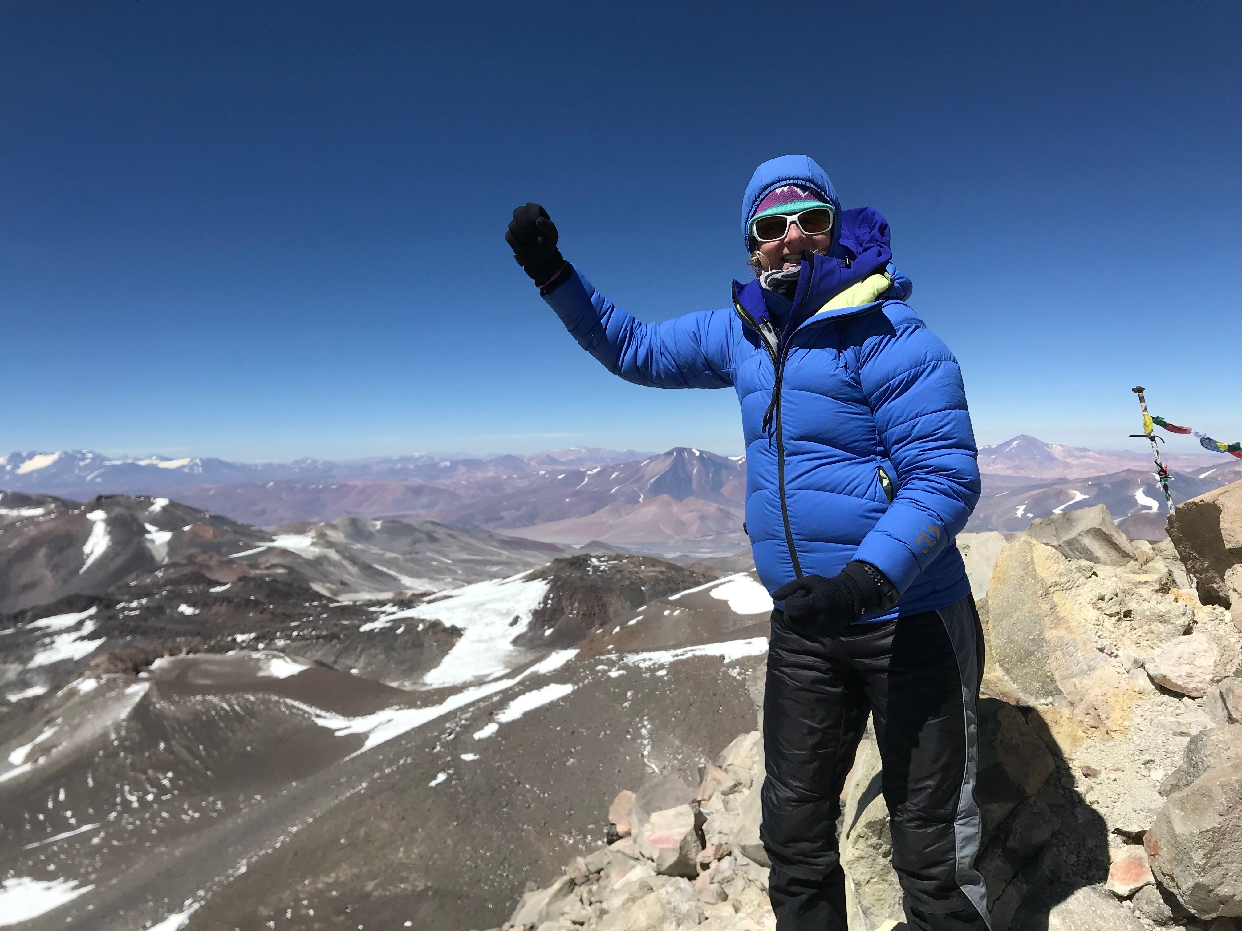 Und vor zwei Jahren stand sie auf dem höchsten Vulkangipfel der Erde, dem Ojos del Salado (6893m) in Chile.