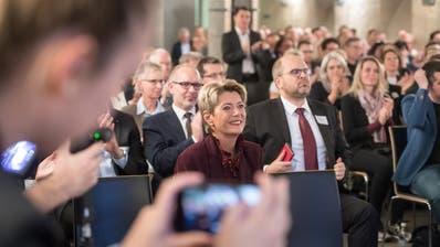 Ein Stelldichein wie am WPO-Unternehmeranlassmit Bundesrätin Karin Keller-Sutter in Wil, ist in diesem Herbst nicht möglich. (Bild: Michel Canonica (Wil, 15. November 2019))