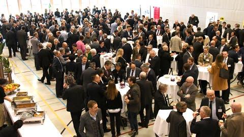 Am 26. Rheintaler Wirtschaftsforum in der Aegetenhalle in Widnau war Bundesrat Ignazio Cassis zu Gast. (Monika Von Der Linden)