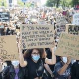 Demonstration gegen Rassismus in Zürich, 13. Juni 2020. (Ennio Leanza / KEYSTONE)