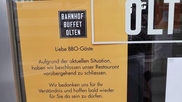 Das Bahnhofbuffet ist momentan geschlossen
