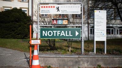 Wegweisender Entscheid der Standeskommission: Der Spitalneubau wird gestoppt. (Bild: Benjamin Manser)