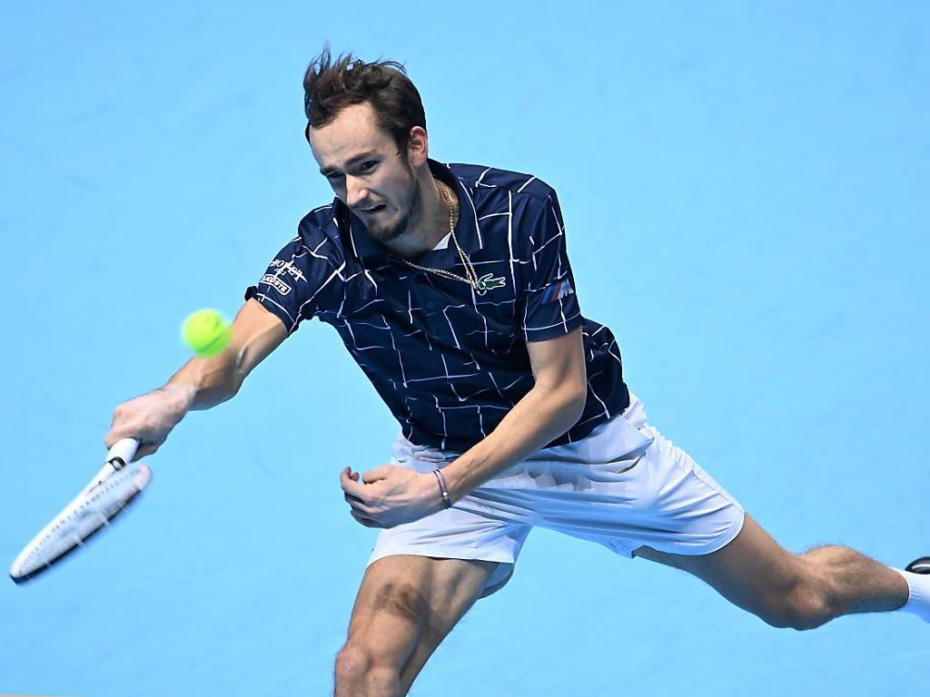 Daniil Medwedew gehört mit die Zukunft - wie Nadal, Djokovic und Federer glänzt der Russe auch in der Defensive