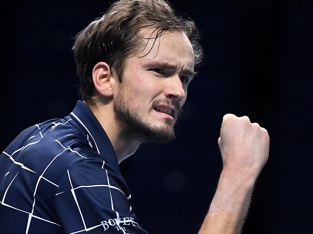 Daniil Medwedew gewann in Paris-Bercy und London die letzten zwei grossen Turniere des Jahres