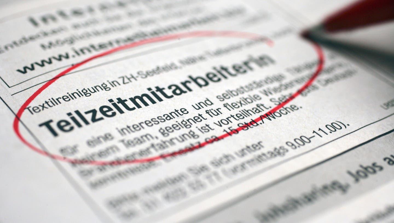In der Schweiz haben die meisten erwerbstätigen Frauen ein Teilzeitpensum. (Symbolbild) (Keystone)