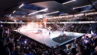 So könnte die Pilatus-Arena künftig aussehen. (Visualisierung: Büro Raumgleiter)