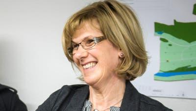 Katharina Aeschbacher bei ihrer Wahl zur neuen Gemeindepräsidentin von Warth-Weiningen im November 2018. (Bild: Reto Martin)