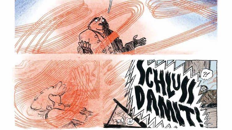 Beethovens Noten strömen in «Goldjunge» als expressive Farbwolken über die Buchseiten. (Zvg / Aargauer Zeitung)