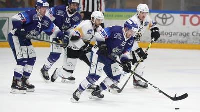 Die Pikes (blau) spielen im EZO gegen den HC Lugano. (Mario Gaccioli (25. Oktober 2020))