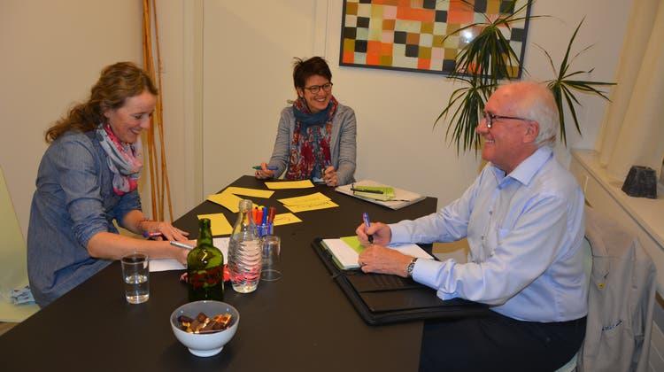 Die Mediatoren Anita Schälin, Silvia Kiser und Theddy Frener entschärfen auf Obwaldner Höfen Konflikte. (Bild: Christian Tschümperlin (Sarnen, 17. November 2020))