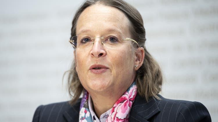 Michaela Schärer ist die neue Babs-Direktorin. Am Donnerstag stellte sie sich den Medien vor. (Keystone)