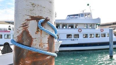 Romanshorn TG , 07.08.2020 / Die Kursschiffe der Bodensee Schiffahrt bleiben wegen Corona auf weiteres im Hafen. (Donato Caspari)