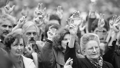 Theresia Rohner, Töpferin und Unternehmerin, kämpfte in Appenzell Innerrhoden für das Frauenstimmrecht. (Bild: Keystone (9. Mai 1990))